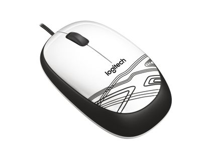 LOGITECH M105 Corded Mouse White (910-002944)