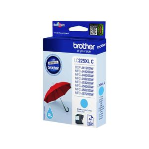 BROTHER Ink Brother LC225XLCBP cyan blister pack |1200pgs| DCP-J4120DW/ MFC-J4420DW (LC225XLCBP)