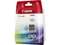 CANON CLI-36 Colour Ink Value Twin Pack (1511B018)