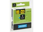 DYMO D1 9mm Tape Black on Yellow