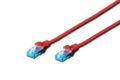 DIGITUS Premium CAT 5e UTP patch cable, Length 0.5m, Color red