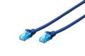 DIGITUS Cable patch UTP, CAT.5E, blue, 0.5m