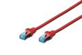 DIGITUS Patchkabel RJ45 SF/UTP Cat5e 0.50m rot Hebelschutz