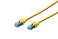 DIGITUS Patchkabel RJ45 SF/UTP Cat5e 0.50m gelb Hebelschutz