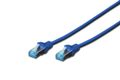 DIGITUS Patchkabel RJ45 SF/UTP Cat5e 0.50m blau Hebelschutz