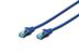 DIGITUS Patchkabel RJ45 SF/UTP Cat5e 2.00m blau Hebelschutz