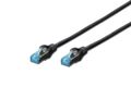 DIGITUS Patchkabel RJ45 SF/UTP Cat5e 0.50m schwarz Hebelsch