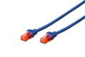 DIGITUS CAT 6 U-UTP PATCH CABLE CU. PVC LENGTH 1M COLOR BLUE