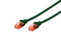 DIGITUS CAT 6 U-UTP PATCH CABLE CU. PVC LENGTH 2M COLOR GREEN