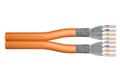ASSMANN Electronic Data KAT7 S-FTP HFFR dual orange inst., 2x(4x2xawg23) 500m