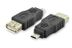 DIGITUS USB adapter A Hun til Micro B han, Sort