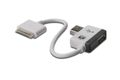 ASSMANN Electronic Digitus Apple Ladekabel iPad, iPhone, iPod, 19cm med USB hub, hvid