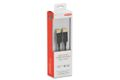 EDNET DisplayPort cable, DP Black, M/M, 3.0m, w/ interlock,  DP, 1.2 conform,, UL, bl, cotton, gold
