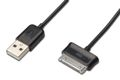 EDNET Ednet Samsung charger/data cable, Samsung 30pin - USB A, M/M, 0.25m, USB 2.0 compatible, UL, bl