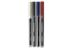 EDNET CD Marker 4pcs blister package, 1x, black, blue, red marker, 1x Eraser, 20