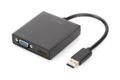 DIGITUS USB 3.0 to HDMI/VGA Adapter Input USB, Out, put HDMI/VGA, single or dual output Res. 1080p