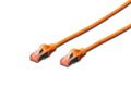 DIGITUS CAT 6 S-FTP PATCH CAB LENGTH 0.5 M COLOR ORANGE CABL