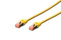 DIGITUS Cable Cat6 S/FTP 0,5m yellow RJ45/RJ45