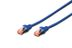 DIGITUS Patchkabel RJ45 S/FTP Cat6 0.25m blau Hebelschutz