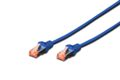 DIGITUS Patchkabel RJ45 S/FTP Cat6 0.50m blau Hebelschutz