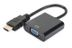 DIGITUS Audio-Video Adapter HDMI type A to VGA, FHD, audio 3.5mm MiniJack