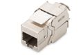 DIGITUS Keystone Jack DIGITUS Cat6a, RJ45, geschirmt,  Metall