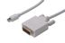 ASSMANN by Digitus Mini displayport / DVI adaptorkabel 2,0m, Mini displayport han:DVI Han hvid