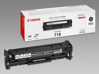 CANON 718 toner cartridge black standard capacity 3.400 pages 1-pack (2662B002)
