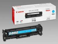 CANON 718 toner cartridge cyan standard capacity 2.900 pages 1-pack (2661B002)