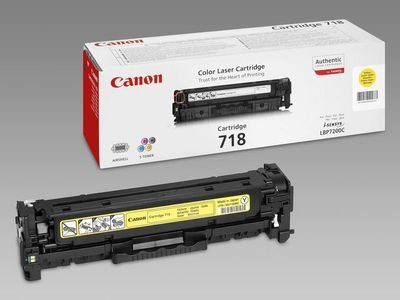 CANON 718 toner cartridge yellow standard capacity 2.900 pages 1-pack (2659B002)