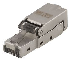 DELTACO RJ45 plug Cat6a, shielded, toolless, metal