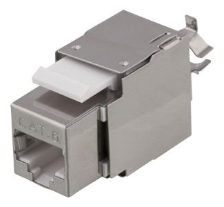 DELTACO Cat6 jack 180, shielded, krone/ dual,  max 18mm wide, metal (MD-119)