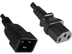 MICROCONNECT PowerCord C13-C20 0,5M Black