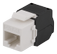 DELTACO Cat6A jack 180 mini, unshielded,  toolless, max 18mm wide, white