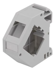 DELTACO DIN holder, shielded, grey (MD-122)