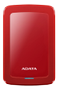 A-DATA ADATA AHV300 1TB External HDD USB3.1 Red