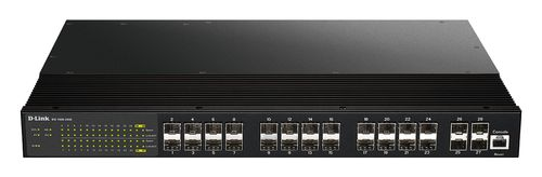 D-LINK Managed SFP Switch, 24-slots, 4x 10G SFP+, Layer2+, black (DIS-700G-28XS)