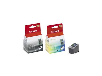 CANON PG-40 / CL-41 Ink Cartridge Black and color standard capacity combopack Blister wo/alarm (0615B043)