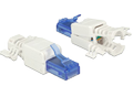 DELOCK RJ45 plug Cat.6A UTP toolfree 2 pieces