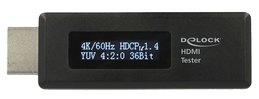 DELOCK HDMI Tester for EDID information with OLED display