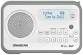 SANGEAN FM/DAB+ Portable radio, slim, rubber edges, favorites,  white/g