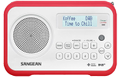SANGEAN FM/DAB+ Portable radio, slim, rubber edges, favorites, white/r