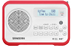SANGEAN DPR-67, portable DAB+/FM radio, RDS, rechargeable,  white/red