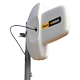 TELEVES 3G/4G Outdoor Antenna, Amplifier,  IP53, 7.5m cable, white