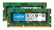 CRUCIAL 8GB Kit DDR3 1600MT/s CL11 SODIMM 204pin (CT2KIT51264BF160B)