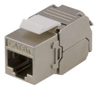 DELTACO Cat6A jack 180 mini, shielded, toolless, max 18mm wide, metal