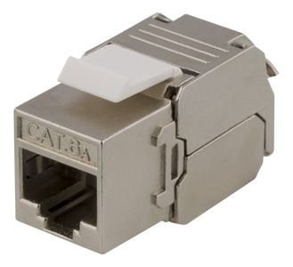 DELTACO Cat6A jack 180 mini, shielded, toolless, max 18mm wide, metal (MD-121)