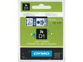 DYMO D1-TAPE 12MM X 7M BLUE ON TRANSPARENT