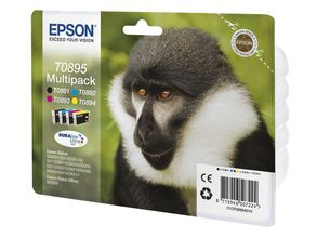 EPSON T0895 ink 4pack BCMY for Stylus (C13T08954010)