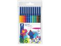STAEDTLER Filtpenn Noris Club 1,0mm assortert (10)